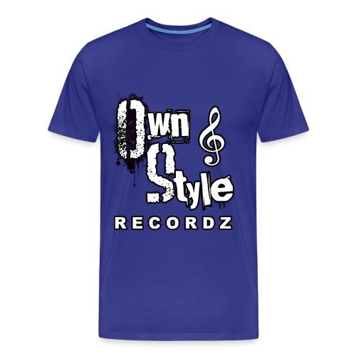 Own Style Recordz-Logo Shirt [Blue] - Männer Premium T-Shirt