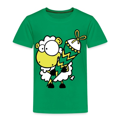Schäfchen mit Zuckertüte T-Shirt - Kinder Premium T-Shirt