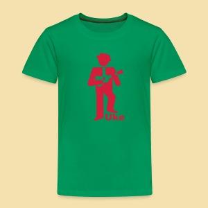 Kidshirt: Uke Player (Motiv:rot) - Kinder Premium T-Shirt