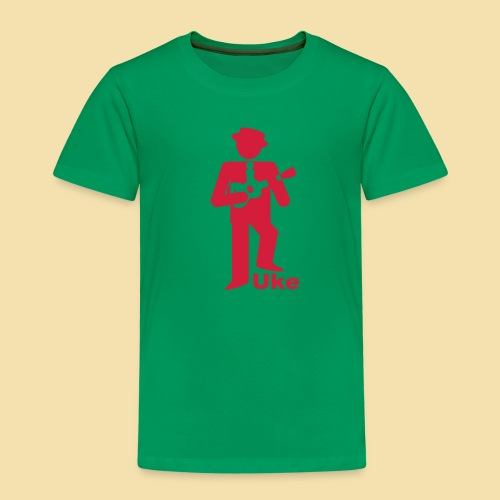Kidshirt: Uke Player (Motiv:rot) - Kinder Premium T-Shirt