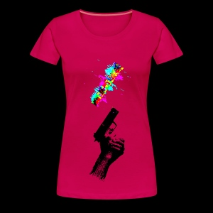 Glitch Gun - Women's Premium T-Shirt