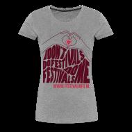 T-shirts ~ Vrouwen Premium T-shirt ~ Hartje Festivalinfo (female)