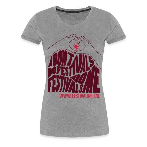 Hartje Festivalinfo (female) - Vrouwen Premium T-shirt