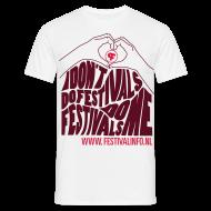 T-shirts ~ Mannen T-shirt ~ Hartje Festivalinfo (male)