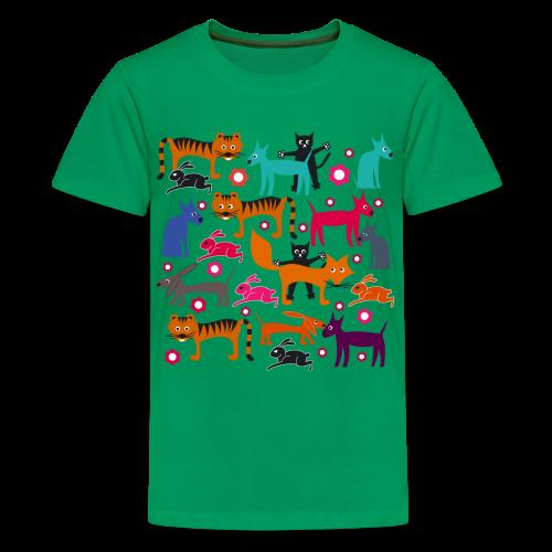teenager, t-shirt klassisch, alle meine tiere - Teenager Premium T-Shirt