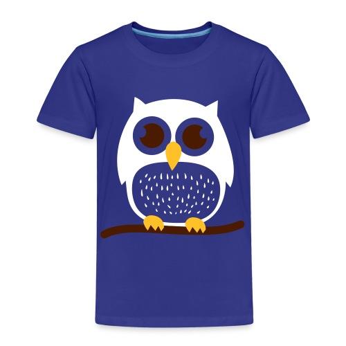 Pöllö oksalla - Lasten premium t-paita