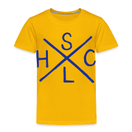 Shirts ~ Kids' Premium T-Shirt ~ SLHC X t-shirt blue/yellow KIDS