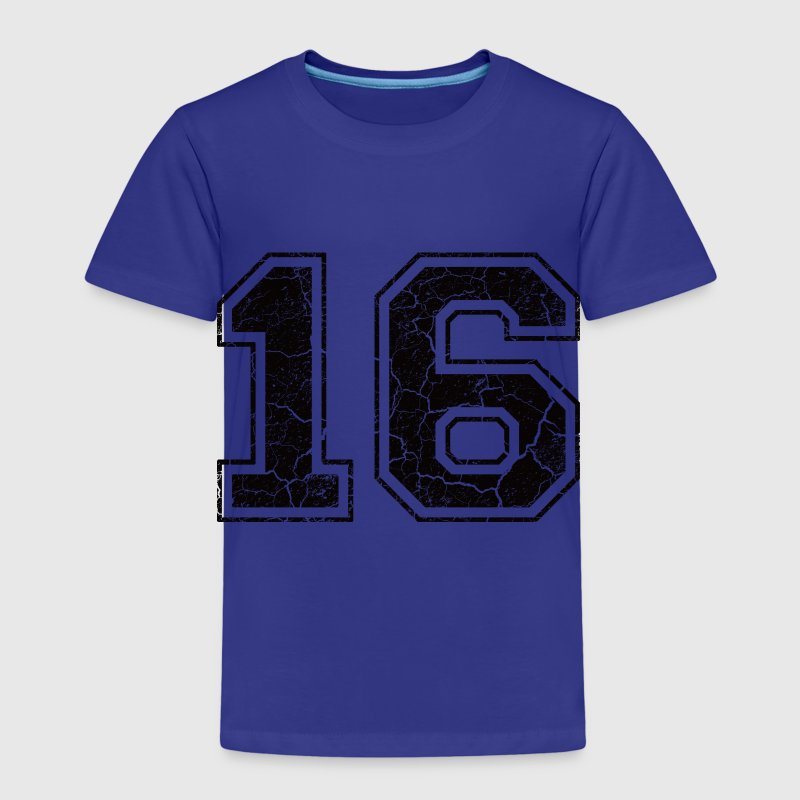 Number 16 in the used look Shirts - Kids' Premium T-Shirt