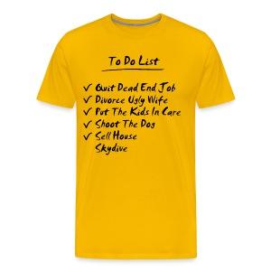 Skydiving t-shirt - To Do List - Men's Premium T-Shirt