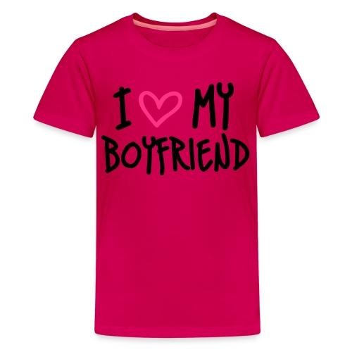 T-shirt: I love my boyfriend - Premium-T-shirt tonåring