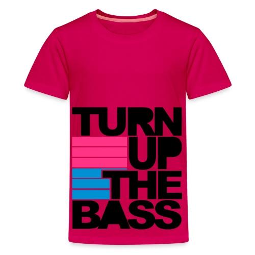 T-shirt: Turn up the bass - Premium-T-shirt tonåring