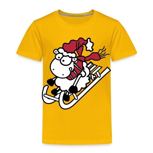 Winter Rodel Schäfchen - Kinder Shirt - Kinder Premium T-Shirt