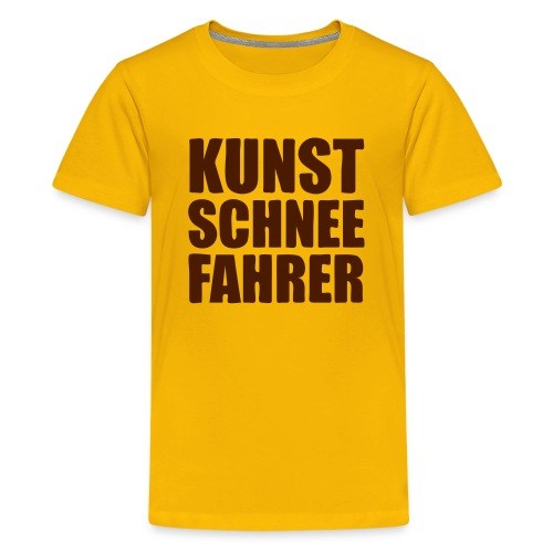 Kunstschneefahrer - Teenager Premium T-Shirt