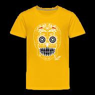 Shirts ~ Kids' Premium T-Shirt ~ WHITE SKULL W SIG
