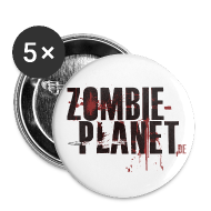 Buttons & Anstecker ~ Buttons klein 25 mm ~ Zombie-Planet Buttons