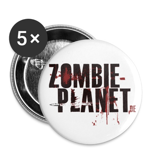 Zombie-Planet Buttons - Buttons klein 25 mm (5er Pack)