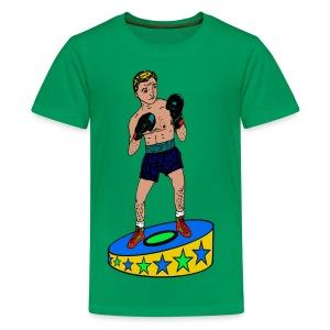 kinder T-shirt met een  bokser - Teenager Premium T-shirt
