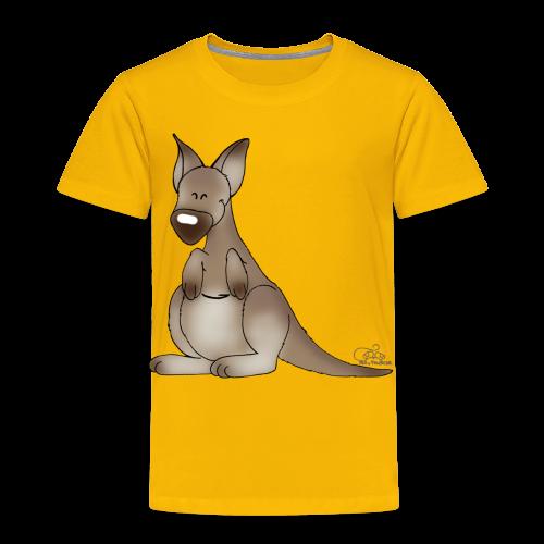 KinderShirt Kicherndes Känguruh - Kinder Premium T-Shirt