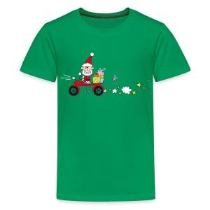 Biker Weihnachtsmann - Teenager Premium T-Shirt