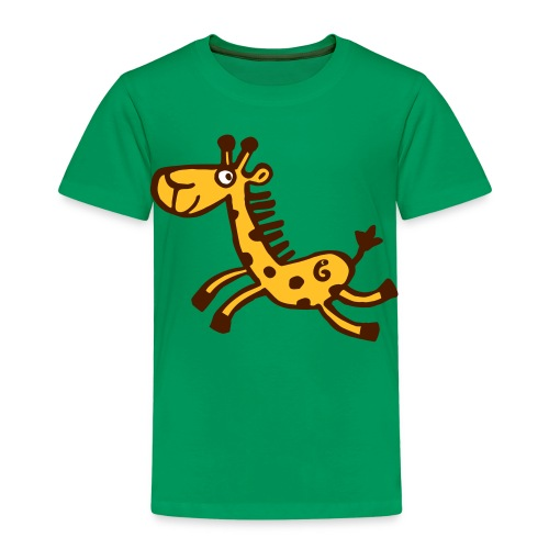 running giraffe - Kinder Premium T-Shirt