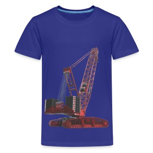 Crawler Crane 750t - Red - Teenage Premium T-Shirt