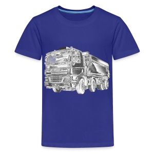 Tipper Truck 8x4 - Teenage Premium T-Shirt