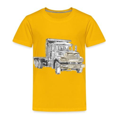 Flatbed truck - 3-axle - Kids' Premium T-Shirt