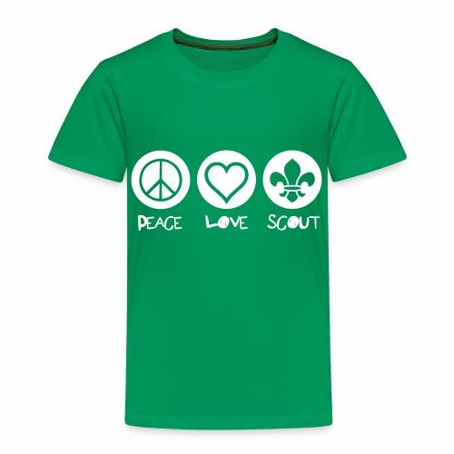 Peace Love Scout - T-shirt Premium Enfant
