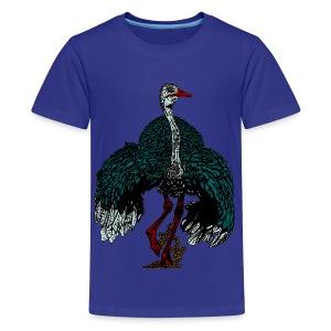 kinder T-shirt met struisvogel - Teenager Premium T-shirt