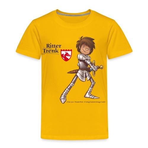 Kinder Premium T-Shirt - Ein offizielles Ritter Trenk Fanprodukt vom Oetinger Verlag. Viele weitere tolle T-Shirts, Langarmshirts und Pullover von Ritter Trenk Tausendschlag, Ferkelchen, Thekla und ihren Abenteuern auf Burg Hohenlob findet ihr im Ritter Trenk Fanshop.