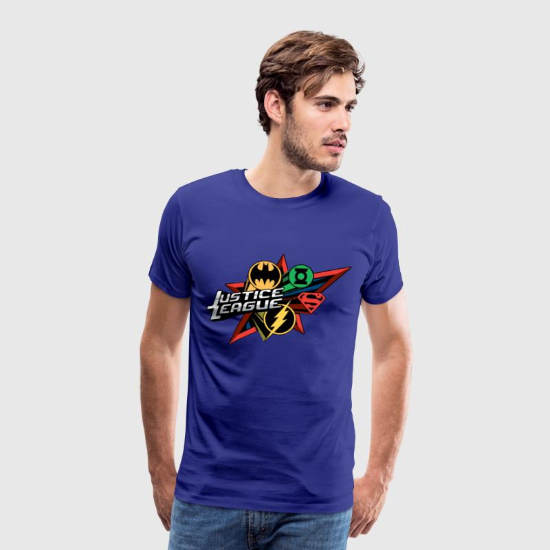 Justice League Hero logo's T-skjorte for menn - Premium T-skjorte for menn