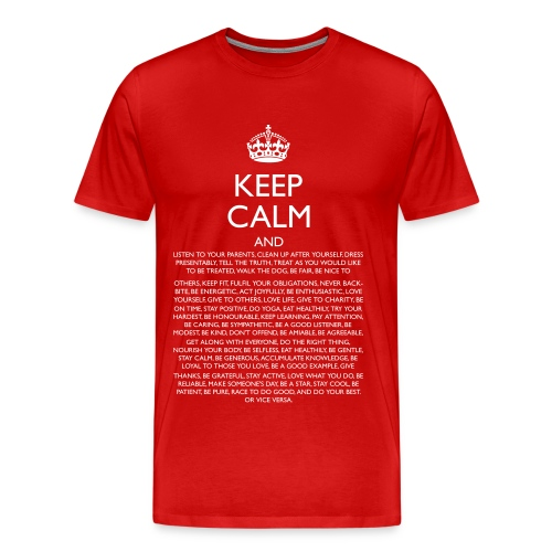 Men's Keep Calm Funny Classic T-Shirt - Men's Premium T-Shirt