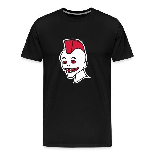 Vintage Retro Comic Zombie Halloween Skull Punk - Männer Premium T-Shirt
