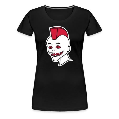 Vintage Retro Comic Zombie Halloween Skull Punk - Frauen Premium T-Shirt
