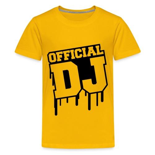 OFFICIAL DJ - Camiseta premium adolescente