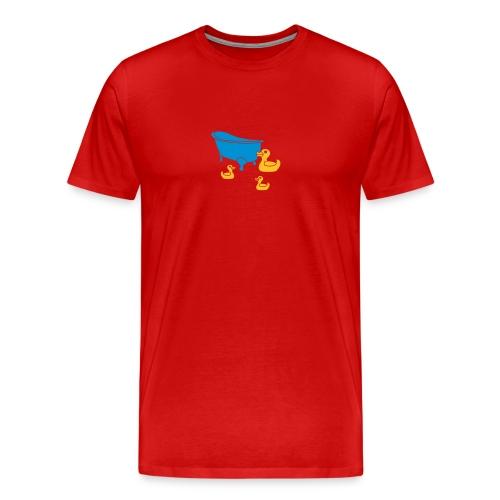 Vintage Retro Comic Swimming Pool Ducks Holiday - Männer Premium T-Shirt