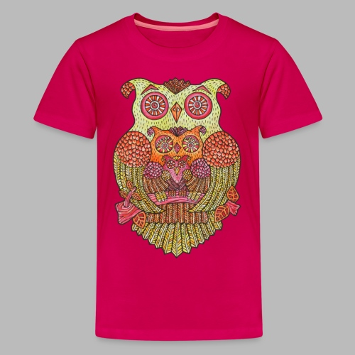 OWL FAMILY  ----------- (9yrs-14yrs) - Teenage Premium T-Shirt