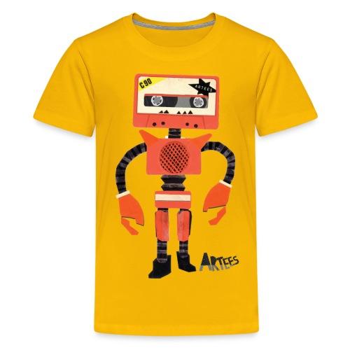 Orange Tape Robo - Teenager Premium T-shirt