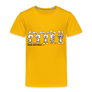 T-Shirts ~ Kinder Premium T-Shirt ~ Hase mit Zahnspange