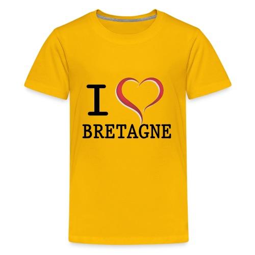 Tee shirt Ado i love bretagne - T-shirt Premium Ado
