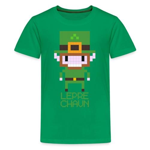 8-bit Leprechaun T-shirt for Kids - Teenage Premium T-Shirt