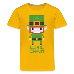 8-bit Leprechaun T-shirt for Kids - Teenage Premium T-Shirt