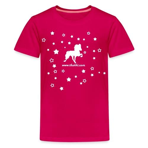 Kindershirt Tölter in der Nacht - Teenager Premium T-Shirt