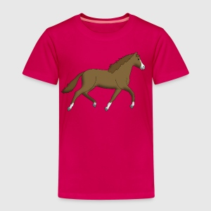 horse brown Shirts - Kinderen Premium T-shirt
