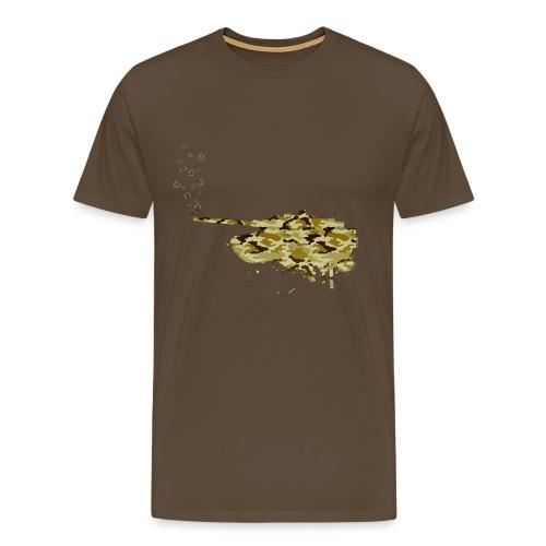 soap bubbles splash tank - Desert Camo - Männer Premium T-Shirt
