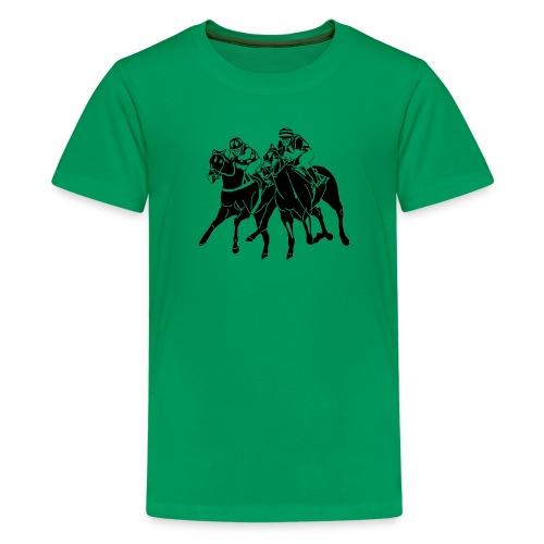 T-Shirt Galopprennen - Teenager Premium T-Shirt