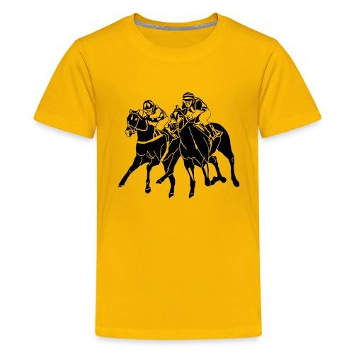 Kinder T-Shirt Galopp -Logo - Teenager Premium T-Shirt