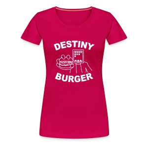 Destiny Burger - White (Women's) - Women's Premium T-Shirt