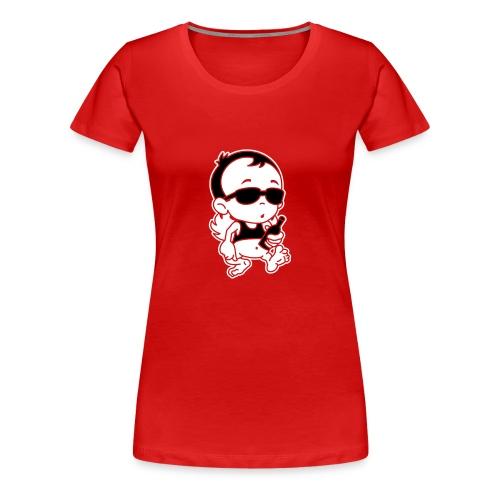 Engel Flügel Comic Angel Wings Funny Beer Bier Sun - Frauen Premium T-Shirt
