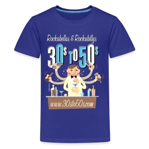 30sto50s.com Cocktails T-Shirt Teenager - Teenager Premium T-Shirt